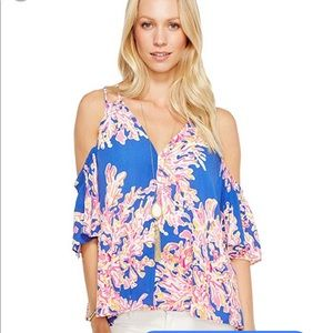 Lilly Pulitzer Bellamie Top in Its Eelectric